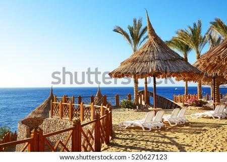 Beach at the luxury hotel, Sharm el Sheikh, Egypt #520627123
