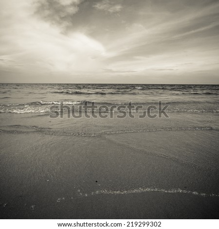 Beach background. Black and white. #219299302