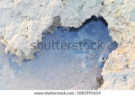 Beach backwater mud, mud background, mud backdrops #1083995654