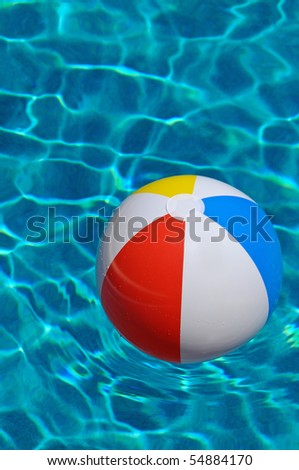 Beach Ball floating in the Swimming Pool