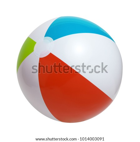 Beach ball isolated on a white background #1014003091