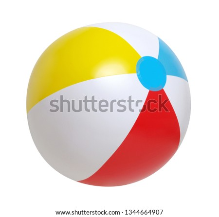 Beach ball isolated on a white background #1344664907