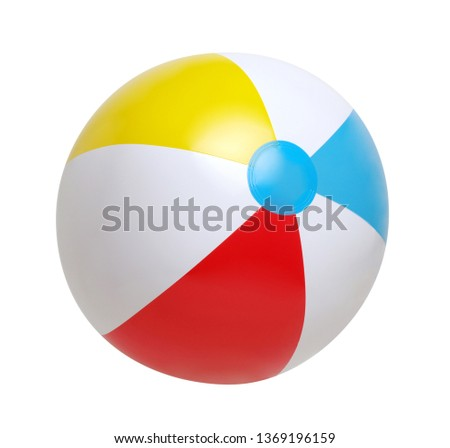 Beach ball isolated on a white background #1369196159