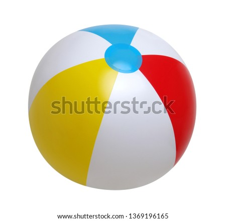 Beach ball isolated on a white background #1369196165