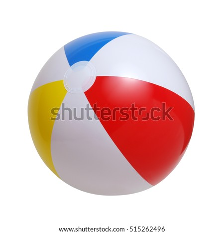 Beach ball isolated on a white background #515262496
