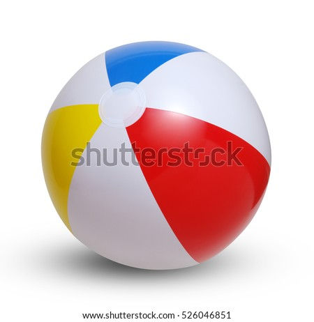 Beach ball isolated on a white background #526046851