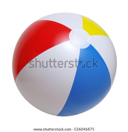 Beach ball isolated on a white background #526046875