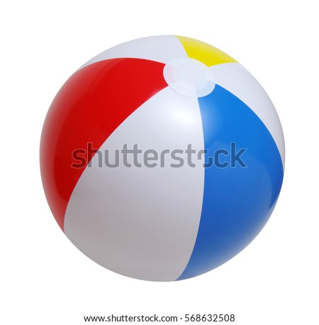 Beach ball isolated on a white background #568632508