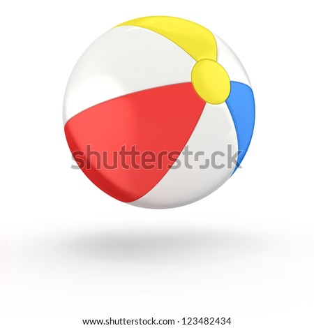 Beach ball isolated on white background #123482434