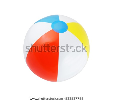 Beach ball isolated on white background. #533537788