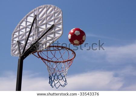 Beach basketball at the sea
