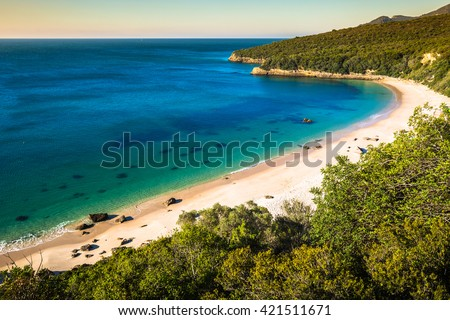 beach bay in portinho da...