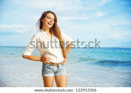 Beach, beautiful woman