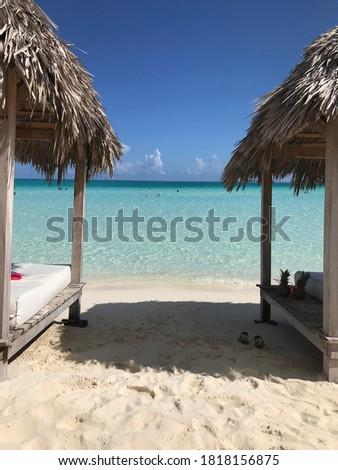 beach blue lagoon blue lagoon beach Playa Pilar on Cayo Guillermo Cayo Coco in Cuba Foto stock ©