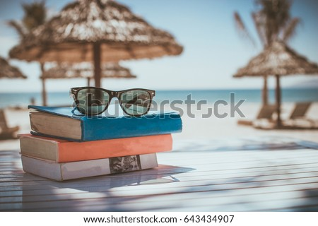 Beach books sunglasses