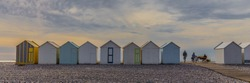 beach cabins in Cayeux sur Mer, Bay of Somme