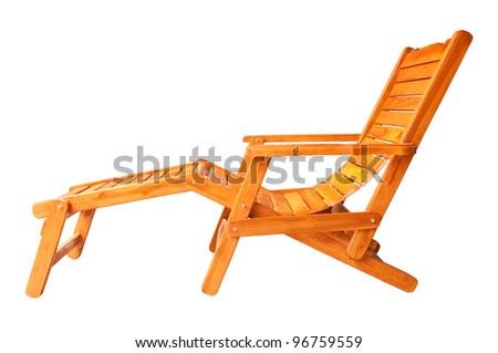 Beach chair. - stock photo