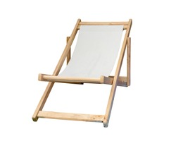 beach chair isolated on white background ,include clipping path