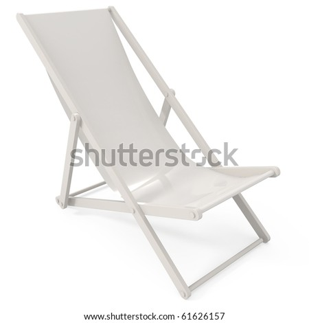 Beach Chair isolated on white - 3d illustration