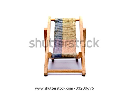 beach chair on white backgrounds