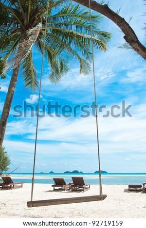 Beach Chairs. Ko Chang. Thailand.