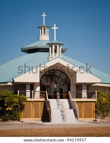 Beach church in Fort Myers, Florida - stock photo
