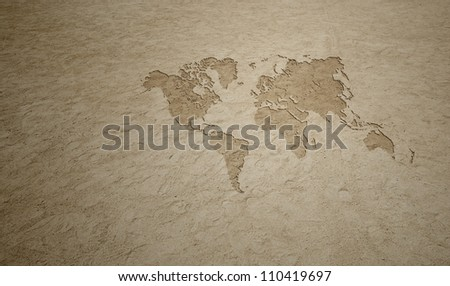 Beach Earth Map