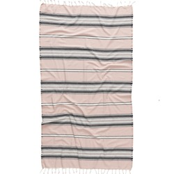 Beach fashion Turkish towels isolated cutout on white background with striped patterns