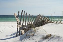 Beach fence near Pensacola Beach, Florida.