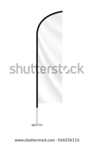 beach flag mockup. blank event flag. advertising feather flag. blade flag #566036116