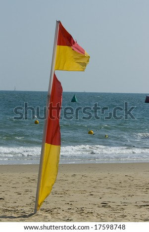 Beach Flag, Sandbanks , Dorset, England