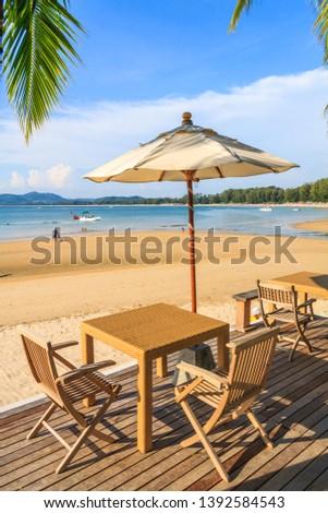 Beach furniture in Bang Tao Beach Phuket, Thailand #1392584543