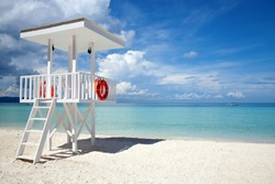 Beach guard tower in Boracay, Philippines