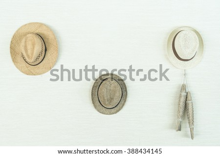 beach hat decoration on white...