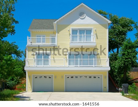 Beach house in summer three story summer cottage at the for Three story beach house