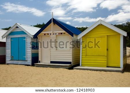Beach Houses on Brighton Beach, Melbourne, Victoria, Australia