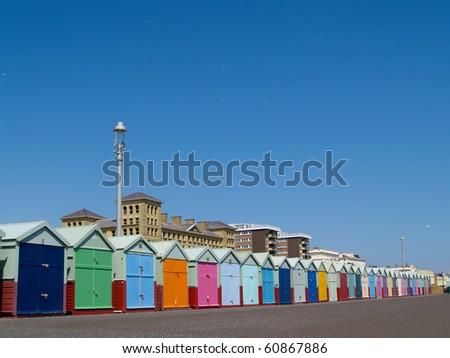 Beach hut of Hove, UK.