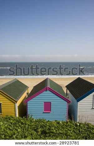 Beach Huts at Southwold Suffolk UK