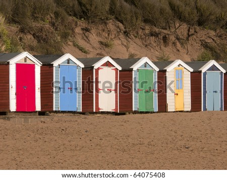 beach huts saunton sands devon