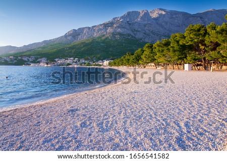 beach in Baska Voda. Adriatic sea Stock fotó ©