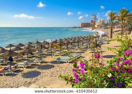 Shutterstock Beach in Benalmadena. Malaga province, Costa del Sol, Andalusia, Spain