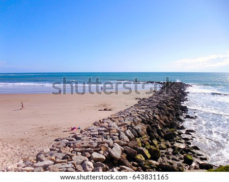 beach in Cadiz, Andalusia. Spain #643831165