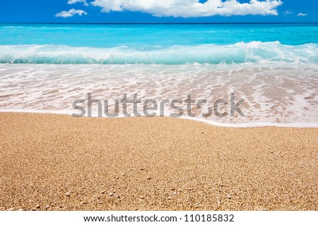 Beach in clear weather