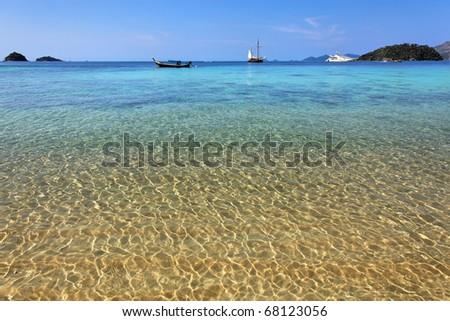 Beach in Ko Lanta, Krabi province of Thailand