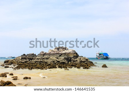 beach in Koh Larn, pattaya,Thailand