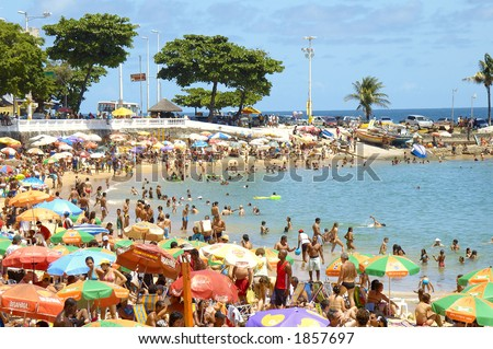Beach in Salvador de Bahia, Brazil - stock photo