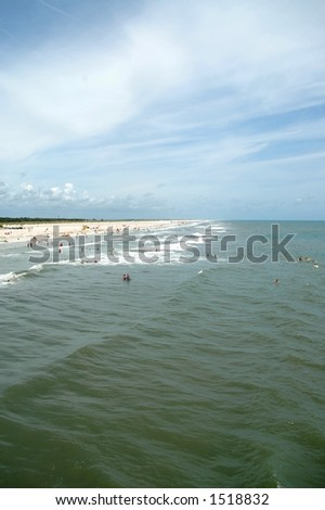 Beach in St Augustine, Florida