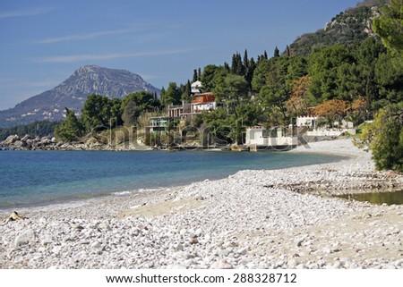 Beach in the city of Bar, Shushan, Montenegro