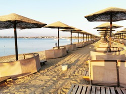 beach in the egypt as very nice background