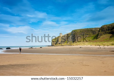 beach - landscape from  County Antrim northern ireland UK